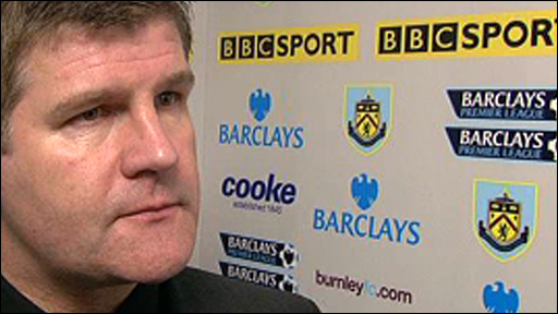 Burnley boss Brian Laws