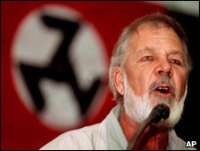 Eugene Terreblanche speaks in Pretoria in June 1999