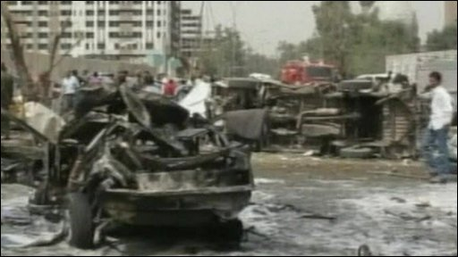 Aftermath of explosion in Baghdad