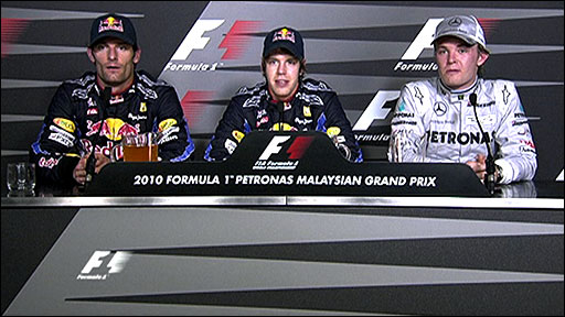 Malaysian GP - Top three drivers