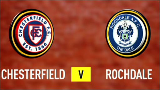 Chesterfield 2-0 Rochdale