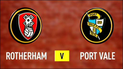 Rotherham 1-2 Port Vale