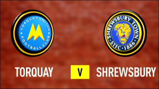 Torquay 2-1 Shrewsbury
