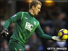 Birmingham City keeper Joe Hart