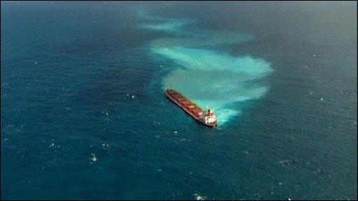 The Shen Neng I aground off Australia