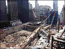 World Trade Center site under construction (March 2010)