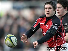 Alex Goode in action for Saracens