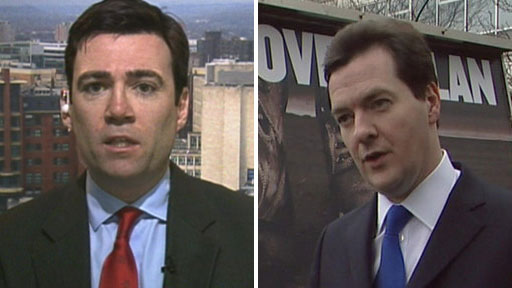 Andy Burnham and George Osborne