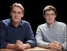 University Challenge final captains George Woudhuysen (left) and Alex Guttenplan