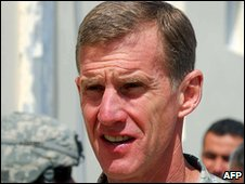 US General Stanley McChrystal, file pic