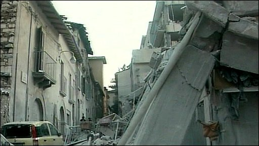L'aquila after the earthquake