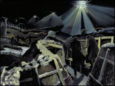 Paul Nash's The Ypres Salient at Night (Imperial War Museum London)