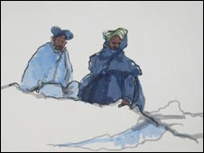Afghans sketched by Jules George