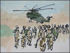 A helicopter in Afghanistan by Jules George