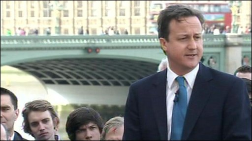 David Cameron addresses party members