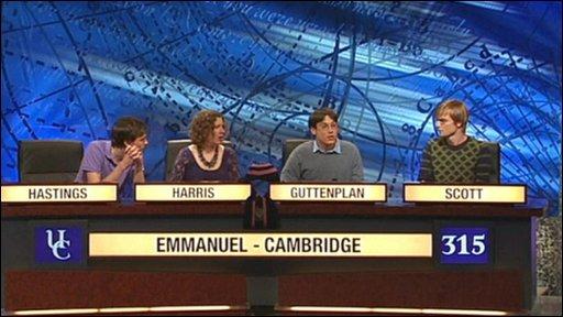 University Challenge winners Emmanuel College, Cambridge