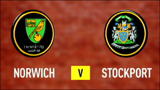 Norwich 2-1 Stockport