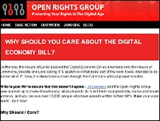 Open Rights website