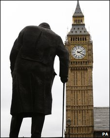 Statue of Churchill in Westminster