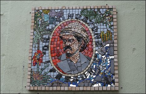 A mosaic featuring HM Stanley