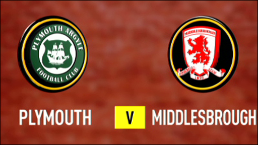 Plymouth 0-2 Middlesbrough