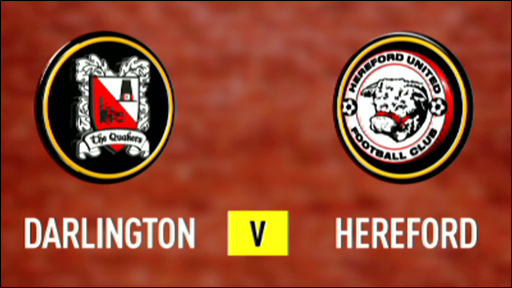 Darlington 0-1 Hereford