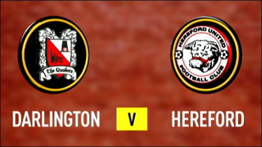 Darlington 0-1 Hereford