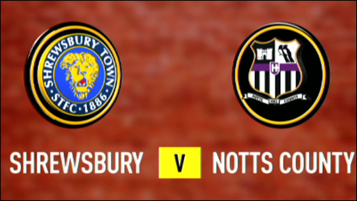 Shrewsbury 0-1 Notts County