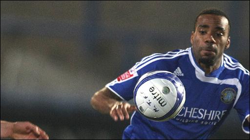Macclesfield goalscorer Emile Sinclair
