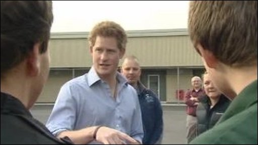 Prince Harry meets cadets