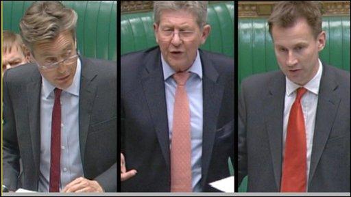 Culture Secretary Ben Bradshaw, Liberal Democrat Culture Spokesman Don Foster and Shadow Culture Secretary Jeremy Hunt