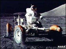 Gene Cernan on the Moon (Nasa)