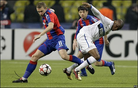 CSKA Moscow meet Inter Milan in the Champions League