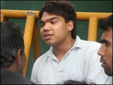 Namal Rajapaksa in Tangalle