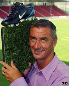 Former Liverpool striker Ian Rush at Dunfermline's East End Park
