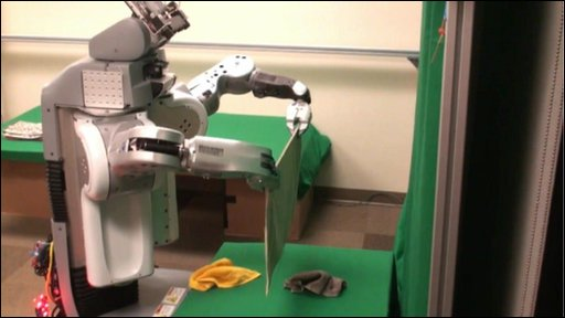 Towel-folding robot