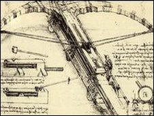 Leonardo's design for a huge crossbow