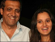 Sania Mirza and her father