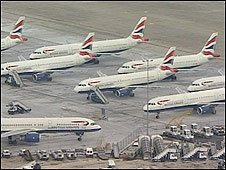 BA planes grounded at Heathrow