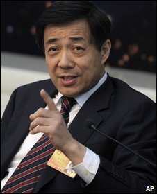 Bo Xilai, Communist Party secretary of Chongqing, China (March 2010)