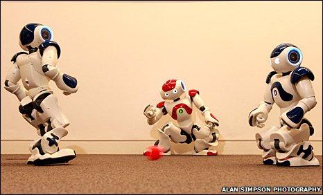 Robot football players