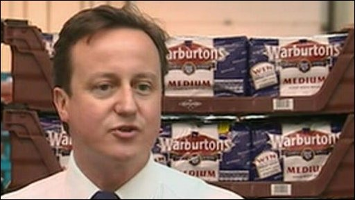 David Cameron at Warbuton's
