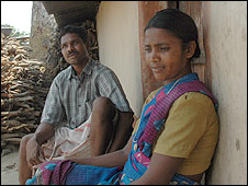 Pandru and Shanti, villagers in the Bijapur district of India