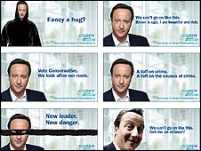 Spoof Tory posters