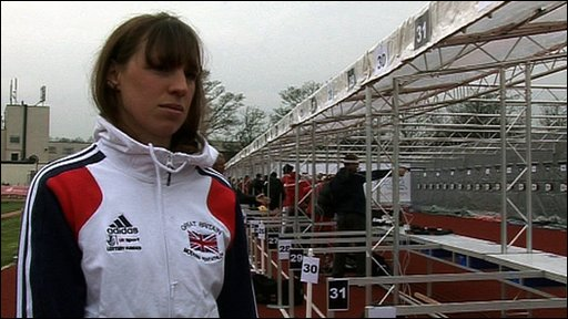 British Penthathlon athlete Heather Fell
