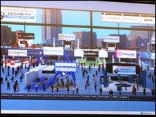 virtual conference floor