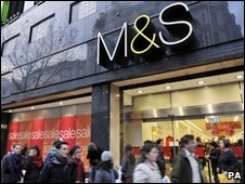 Shoppers outside M&S's main Oxford Street store