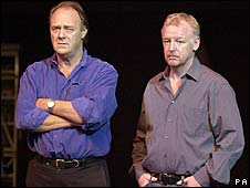 Christopher Cazenove with Les Dennis