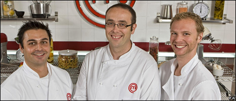 MasterChef finalists Dhruv Baker, Tim Kinnaird and Alex Rushmer