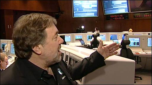 "Richard Francis in Cryosat's ""mission control"""
